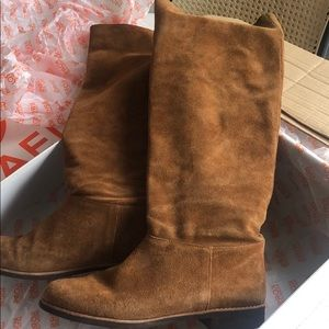 Brown Suede Kors Michael Kors slouch suede boots-8